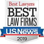 U.S. News and World Report Best Law Firms for 2019